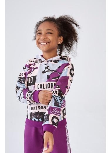 Guess Kız Çocuk Desenli S-Shirt Renkli